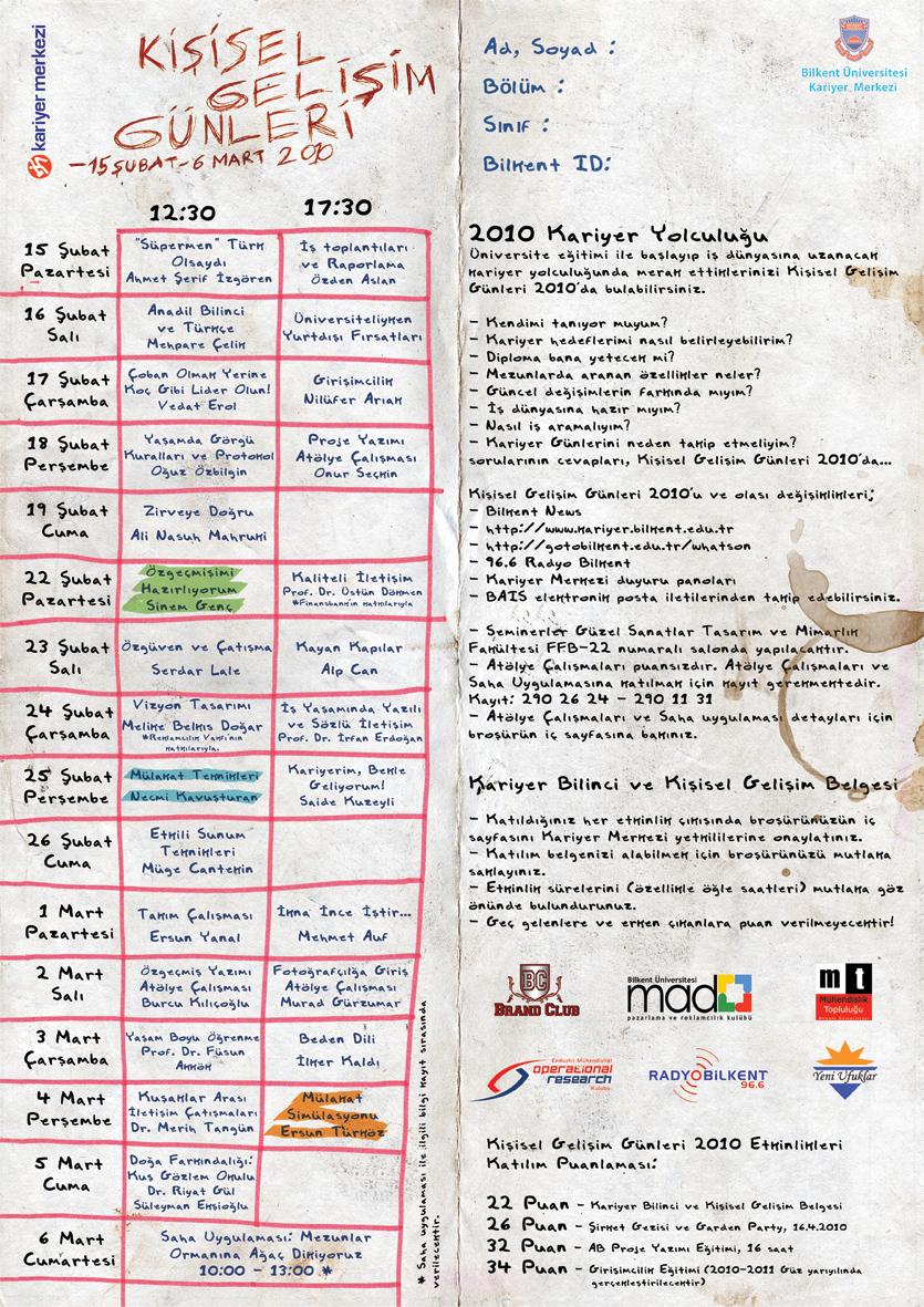 Kişisel Gelişim Günleri 2010 (15 Şubat - 6 Mart) 1
