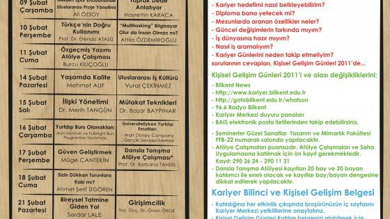 Kişisel Gelişim Günleri 2011 (07 Şubat - 26 Şubat) 1