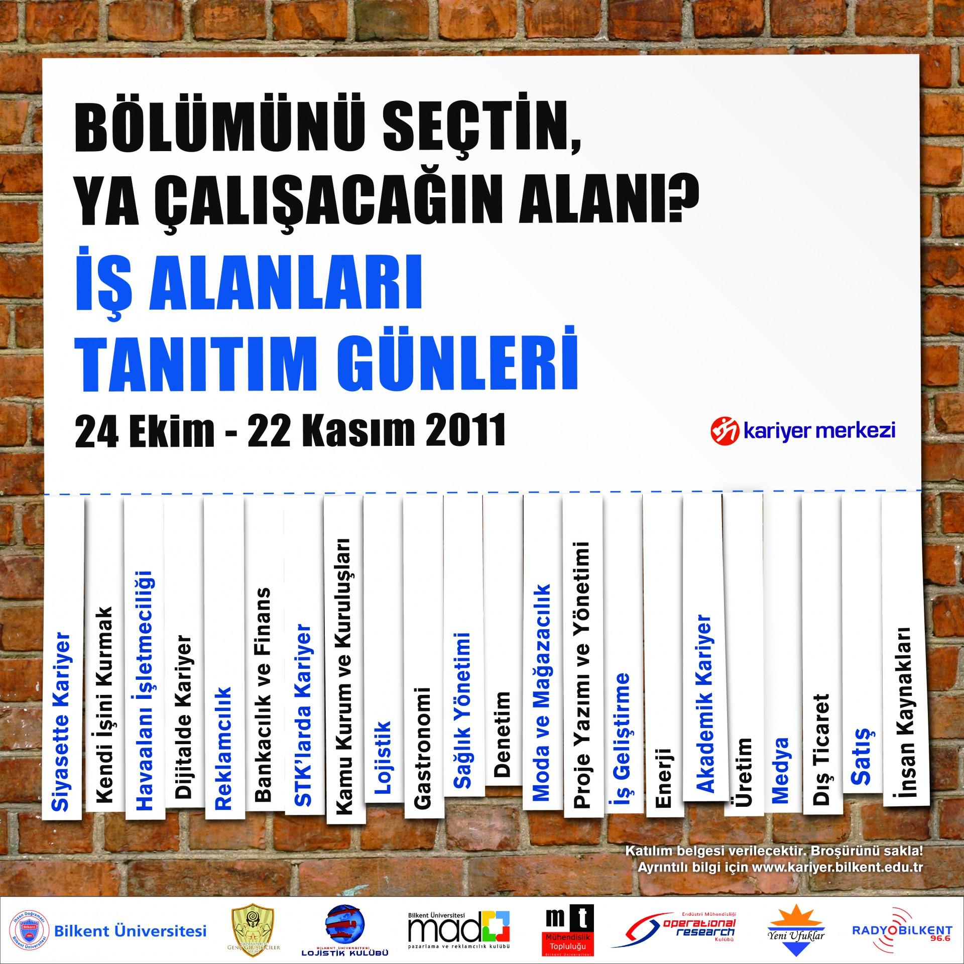 İş Alanları Tanıtım Günleri 2011 (24 EKİM-22 KASIM) 3