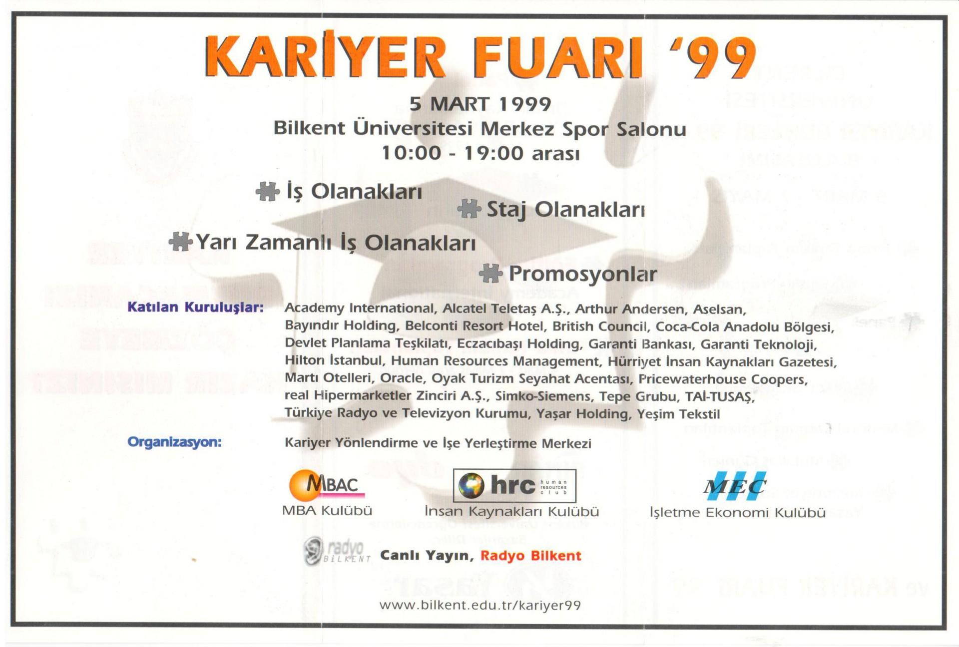 Kariyer Fuarı 1999 2