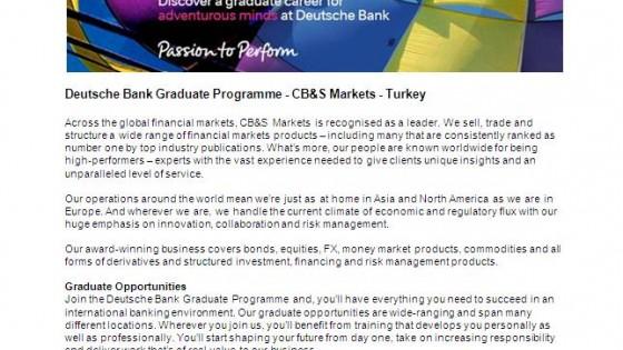 Deutsche Bank Graduate Programme 1