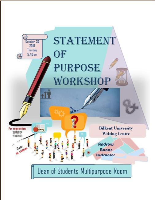 Statement Of Purpose Workshop 2