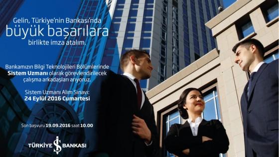 Türkiye İş Bankası Sistem Uzmanı Sınavı 1