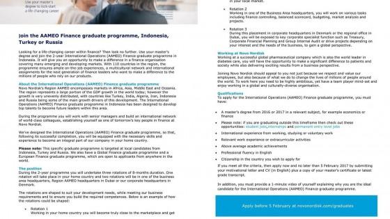 Novo Nordisk Finance Graduate Programme 1