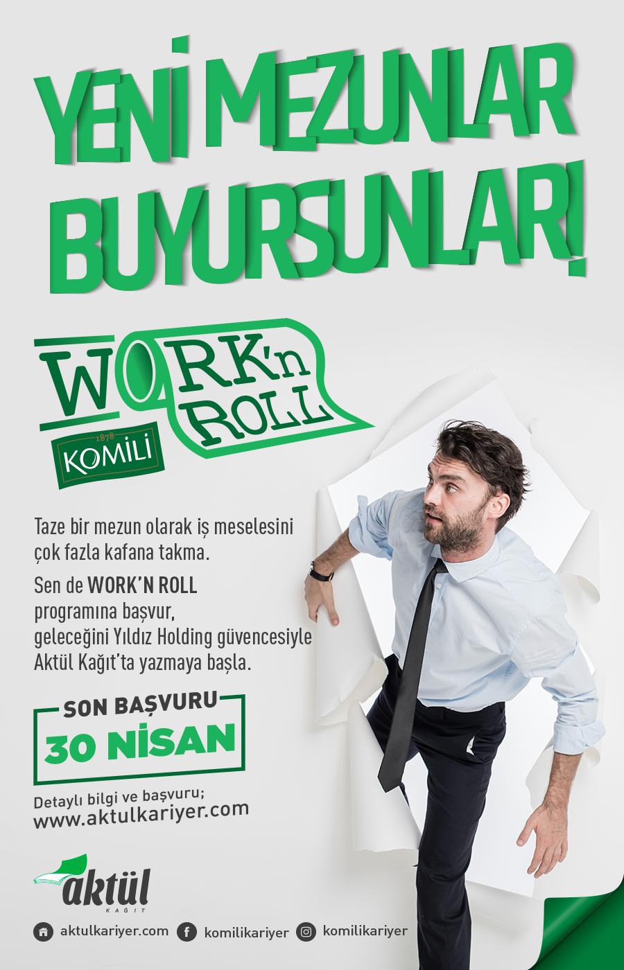 Aktül Kağıt İşe Alım Programı WORK'N ROLL 1