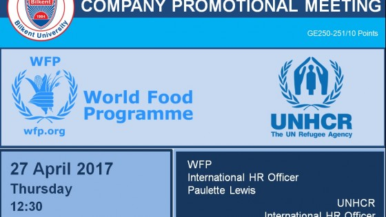 WFP & UNHCR Company Promotional Meeting 2