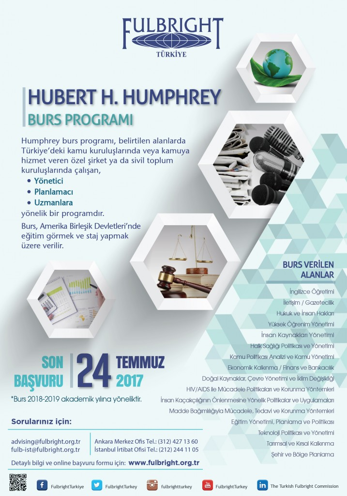 Fulbright'dan Hubert H. Humphrey Burs Programı 1