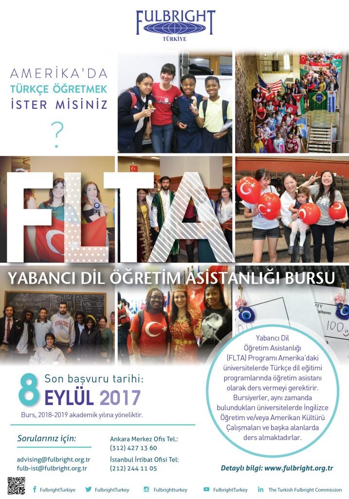 Fulbright - Yabancı Dil Öğretim Asistanlığı (FLTA) Burs Programı 1