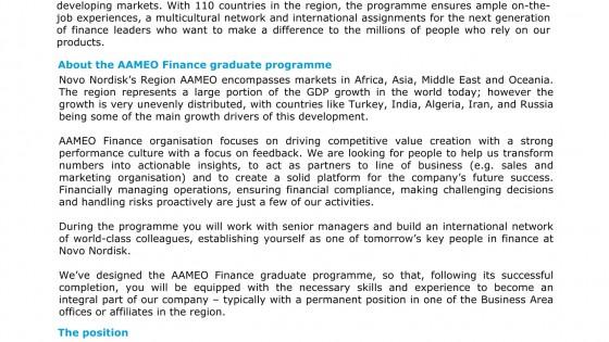 Novo Nordisk- Finance Graduate Programme 1