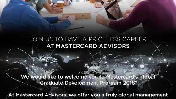 Mastercard Advisors Graduate Development Program 2018 1