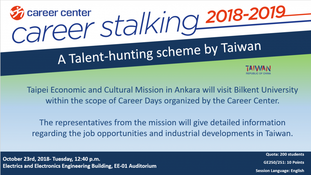 A Talent-hunting scheme by Taiwan 1