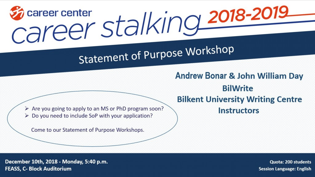 STATEMENT OF PURPOSE WORKSHOP 1