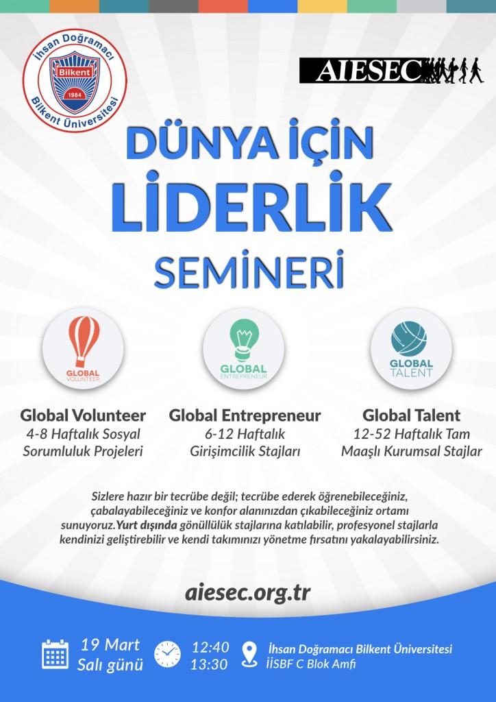 AIESEC, Dünya İçin Liderlik Semineri 1